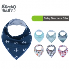4-Pack New Style Baby Bandana Drool Bibs With Snaps, Organic Absorbent Drooling & Teething Bib Sets Baby Shower Gift Sets
