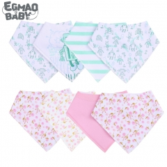 2Pcs Unisex Baby Bandana Drool Bibs Adjustable Snaps Bibs For Drooling&Teething 100% Cotton Newborn Bibs Useful Baby Accessories