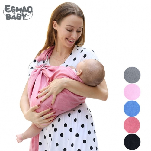 80% Linen Fabric Breathable Baby Ring Sling Carrier Soft Baby Wrap For Newborns Best Shower Gift For Girls & Boys