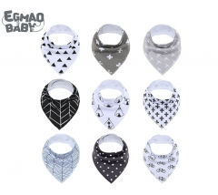 9Pcs/Lot Baby Bibs Baby Accessories Newborn Baby Burp Bandana Cotton Soft Toddler Triangle Scarf Infant Saliva Towel Baby Gift